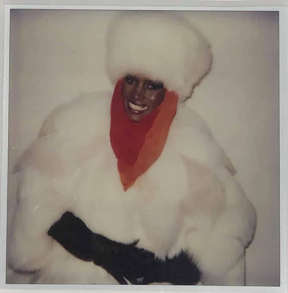 Polaroid photograph of Grace Jones, 1984, by Andy Warhol