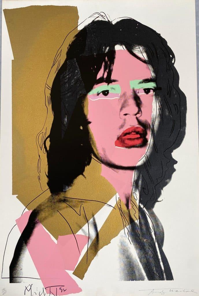 Mick Jagger (F&S II.143), 1975, by Andy Warhol