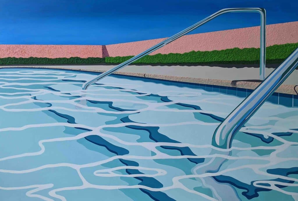Pool steps, 2020, by Honor Bowman Hall, presented by Contempop Gallery