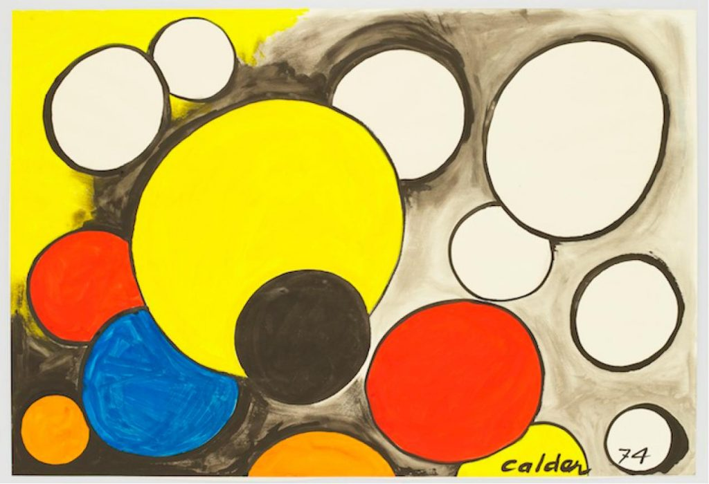 Appearing Orbs, 1974, by Alexander Calder, presented by David Benrimon Fine Art