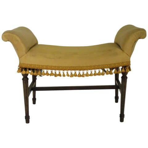 Scrolled-arm bench, 1920s, offered by Carol Master Antiques