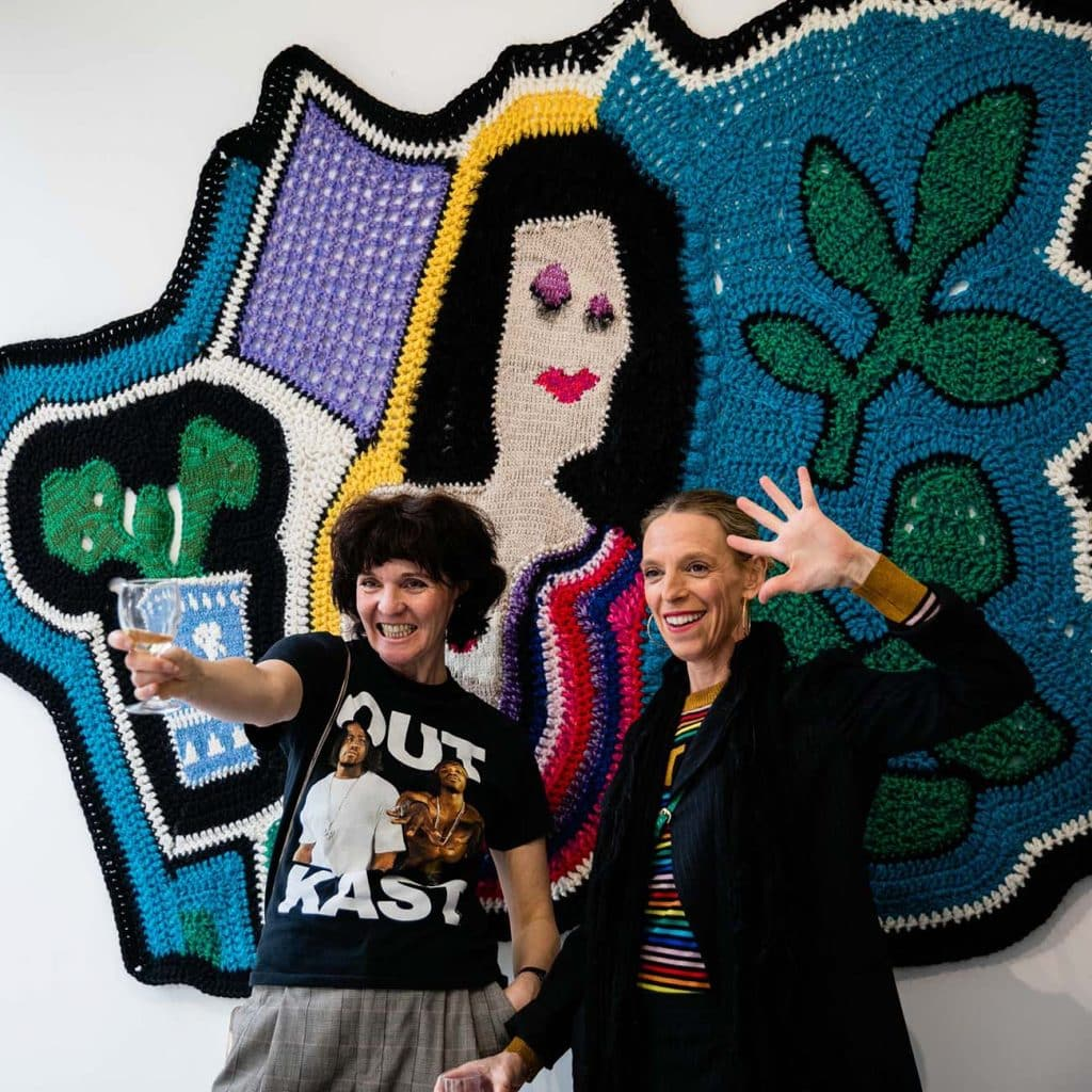 London-based duo Carolyn Clewer (left) and Tiphaine de Lussy, who collaborate as Paris Essex.