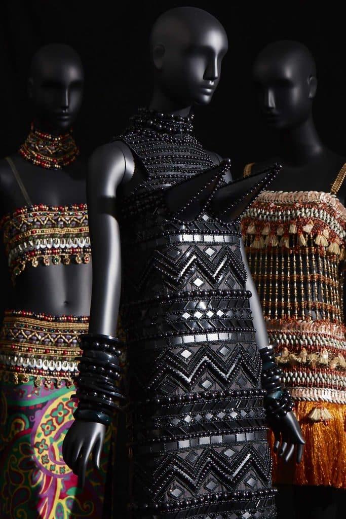 Dress, Bambara collection, haute couture, Spring 1967. © Yves Saint Laurent/Sophie Carré