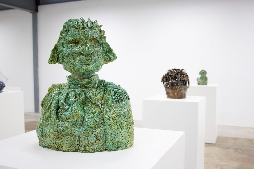 George Washington Bust as a Topiary (large), 2016, by Valerie Hegarty