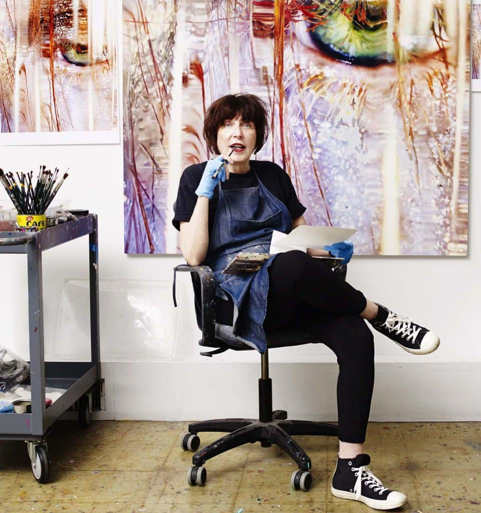 Marilyn Minter in her New York studio