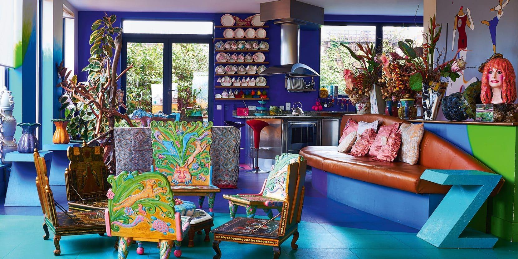 The London penthouse of fashion designer Zandra Rhodes