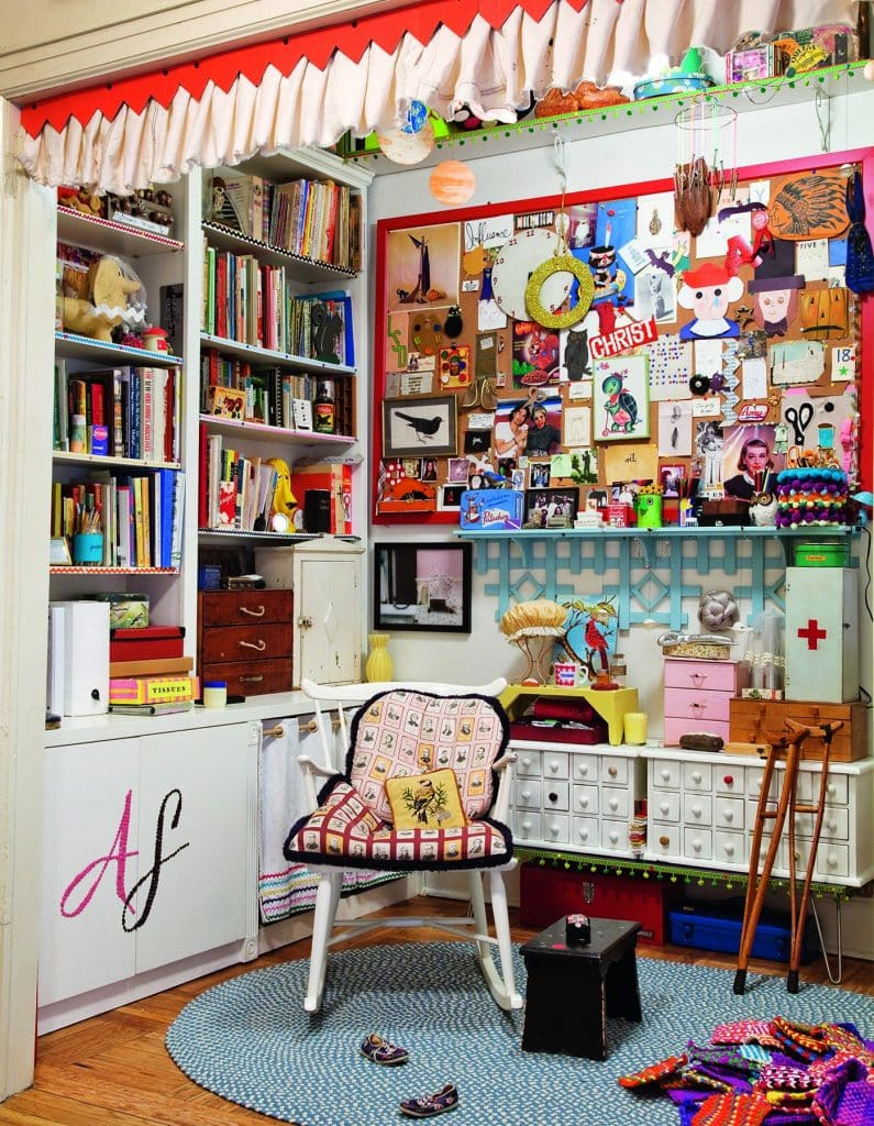 Comedian Amy Sedaris's apartment in New York's Greenwich Village