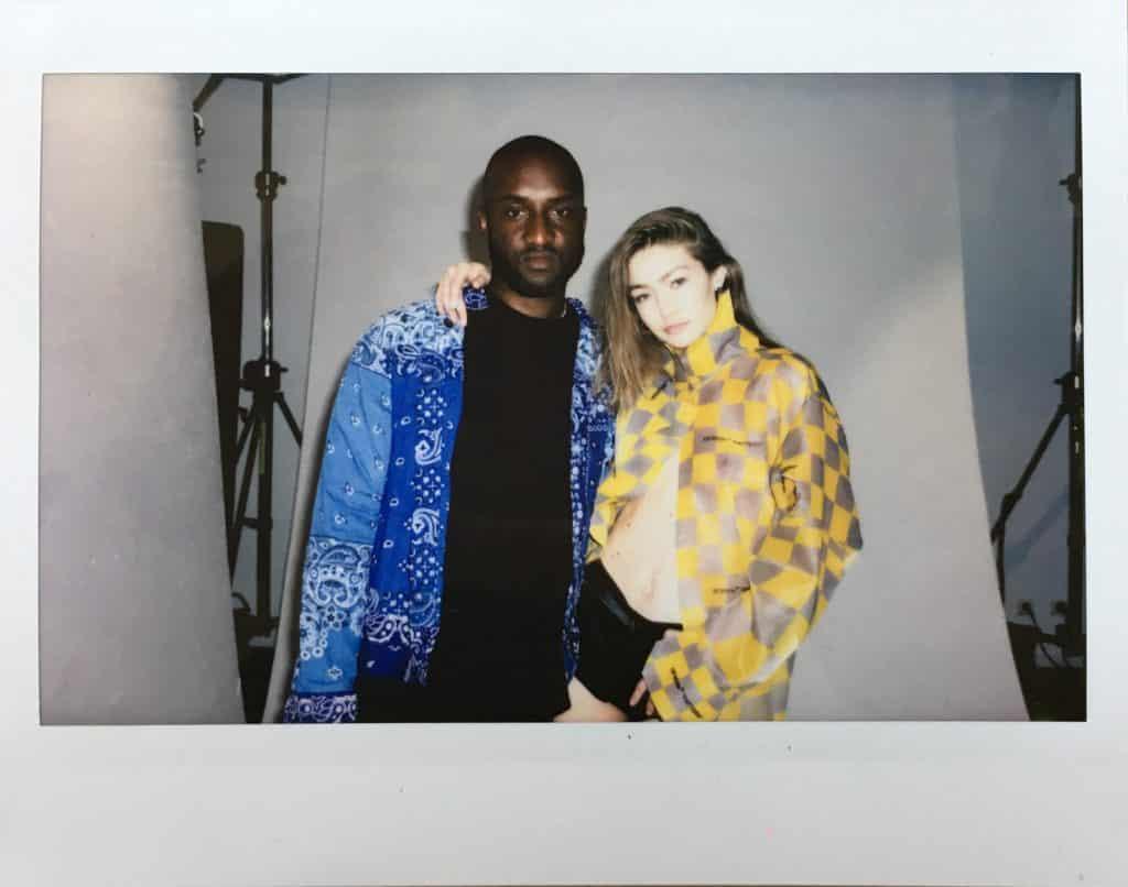 Virgil Abloh and Gigi Hadid