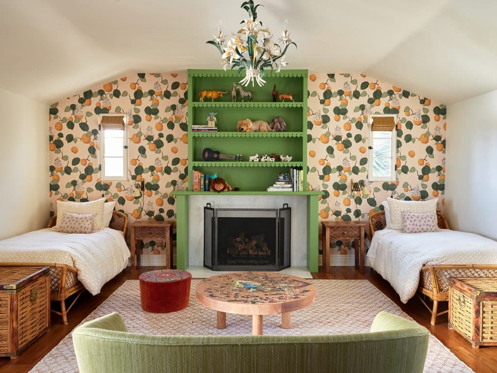 A children's bedroom in Toro Canyon desinged by Nickey Kehoe.