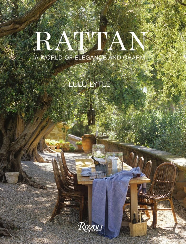 The cover of Rattan: A World of Elegance and Charm, by Lulu Lytle, published by Rizzoli