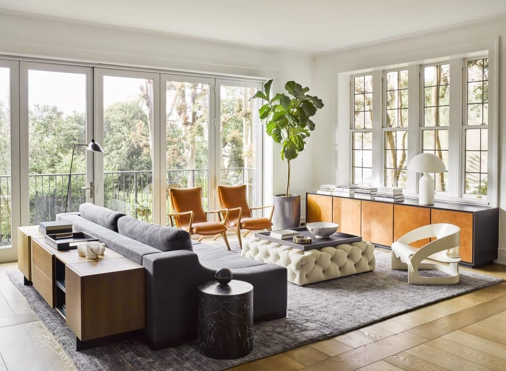 Russian Hill living room by Nicole Hollis