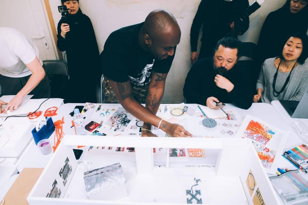Virgil Abloh and Takashi Murakami
