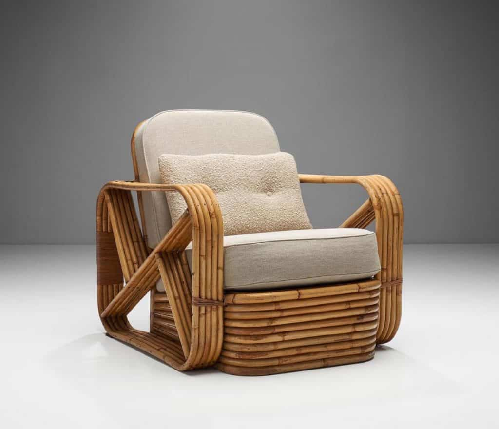 a 1940s Paul Frankl armchair offered by H. Gallery