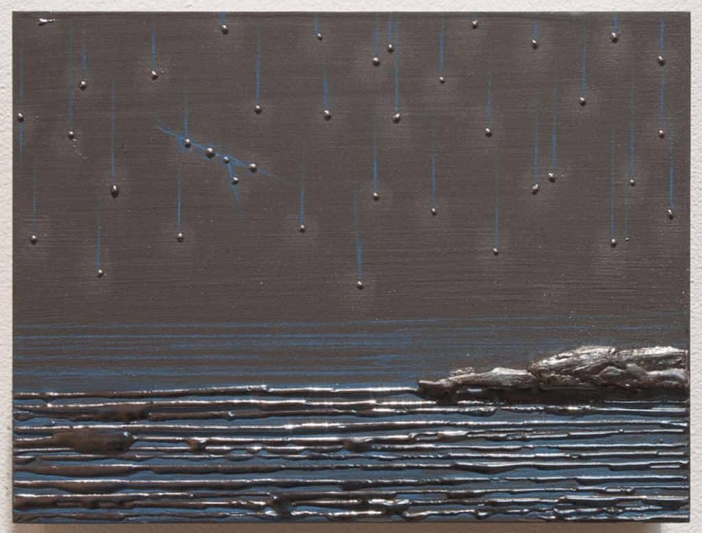 The painting July 16th Sky (For Maura), 2011, by Teresita Fernández