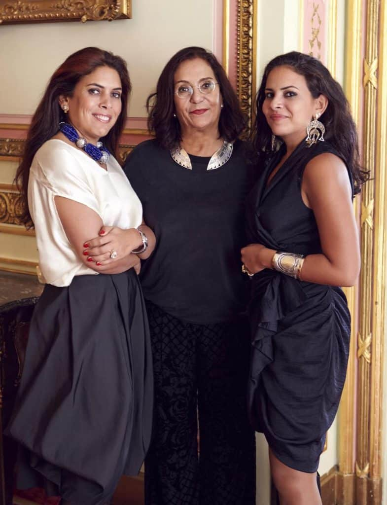 Azza Fahmy's leadership: managing director Fatma Ghali; founder, creative director and chairwoman Azza Fahmy; and head designer Amina Ghali.