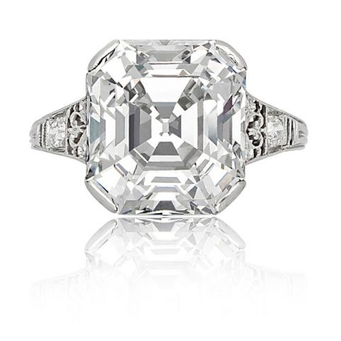 Tiffany & Co. 7.31-carat Asscher-cut diamond ring