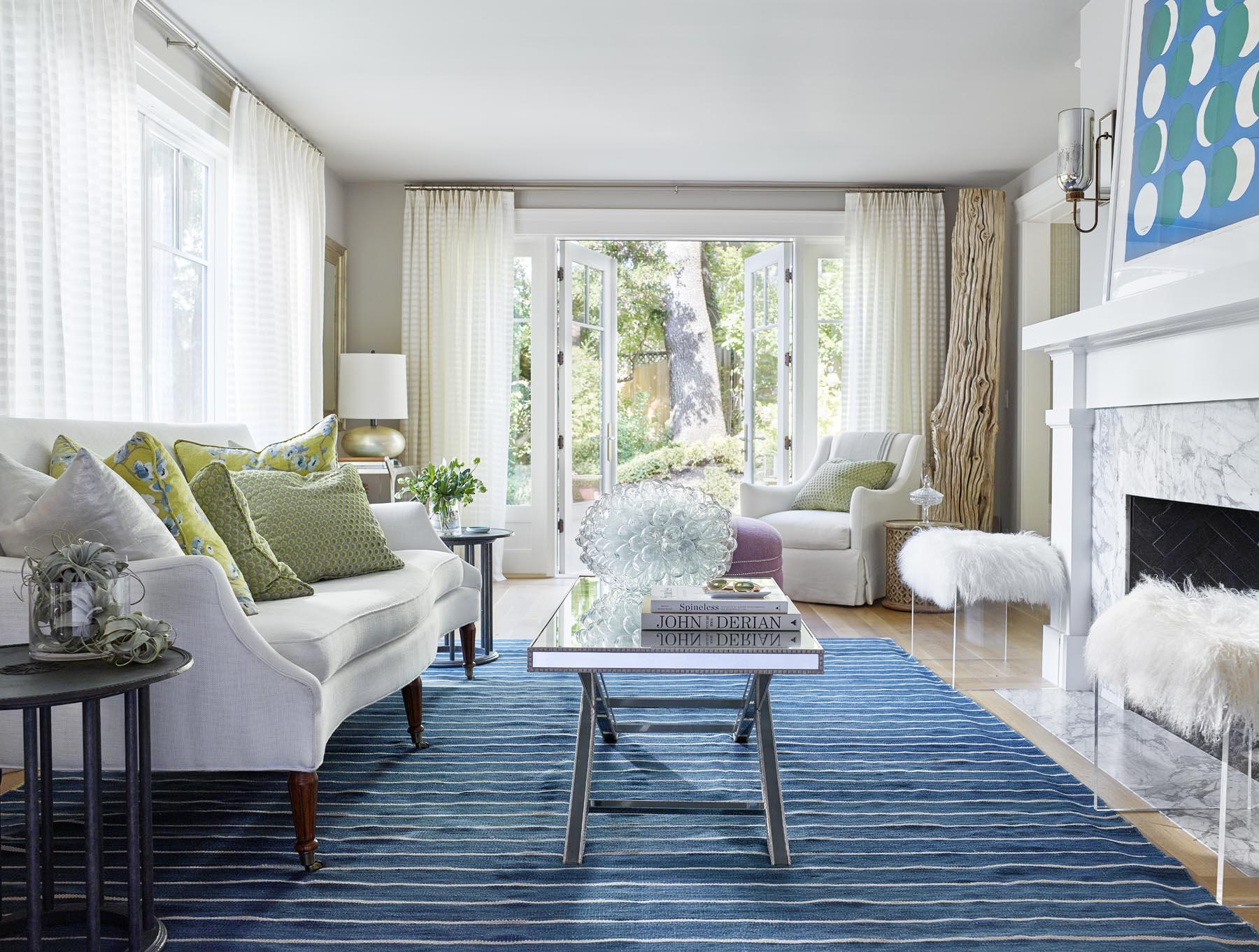 Alison Pickart blue and white living room