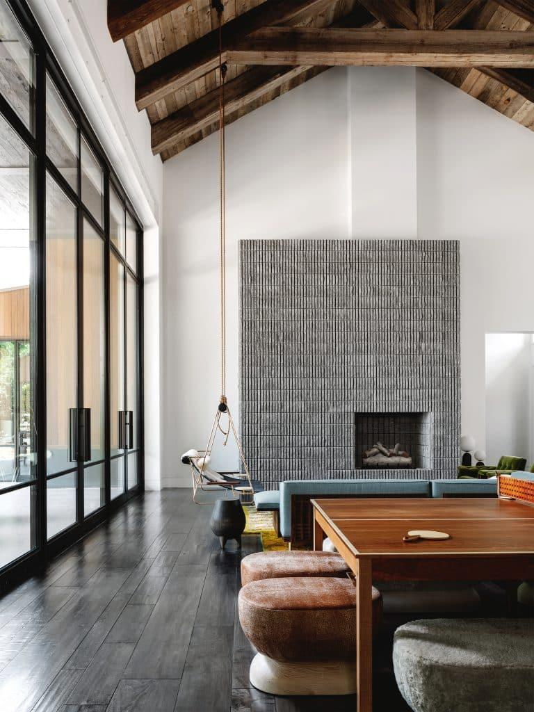 Melanie Raines Austin fireplace