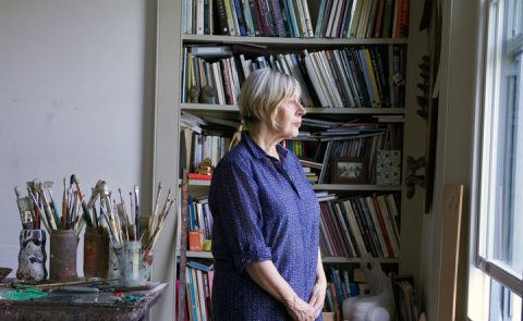 Eileen Cooper in her studio.