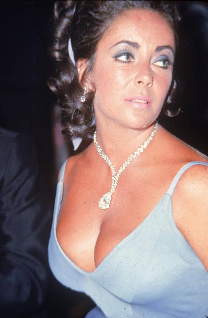 Elizabeth Taylor at the 1970 Oscar Ball at the Beverly Hilton Hotel.