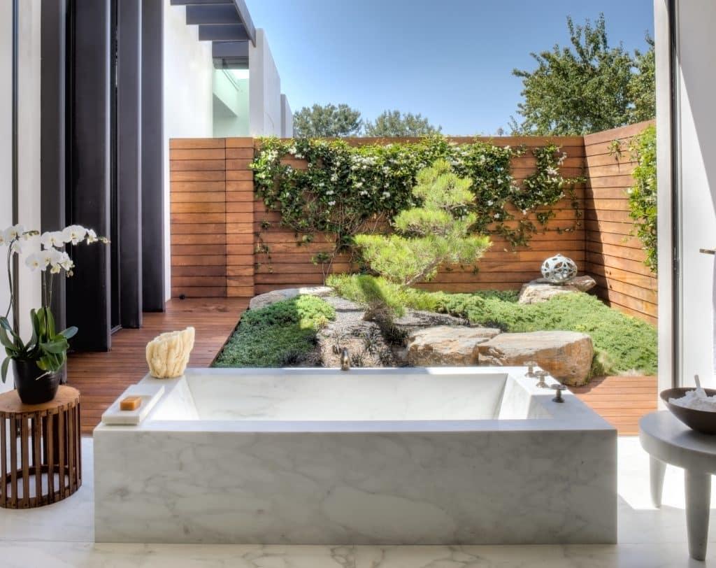 Jennifer Aniston's Bel Air bathroom, designed by Stephen Shadley