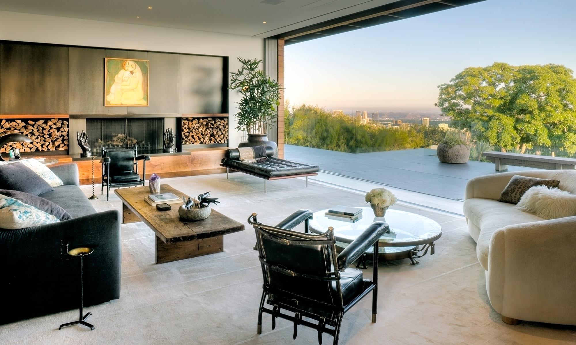 Jennifer Aniston's Bel Air living room, designed by Stephen Shadley
