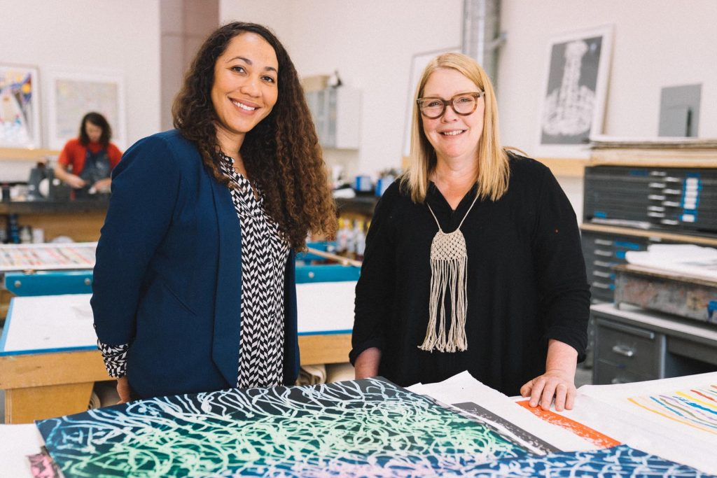 Rhea Fontaine (left) and Pam Paulson, of Paulson Fontaine Press.
