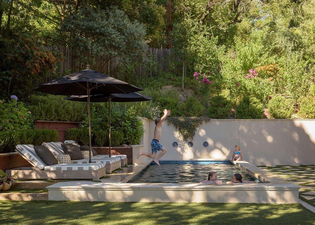 Alison Pickart kids and pool