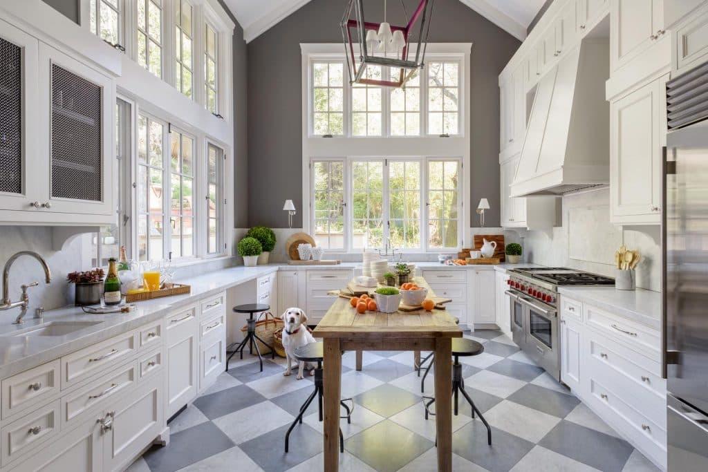 Alison Pickart white and gray kitchen