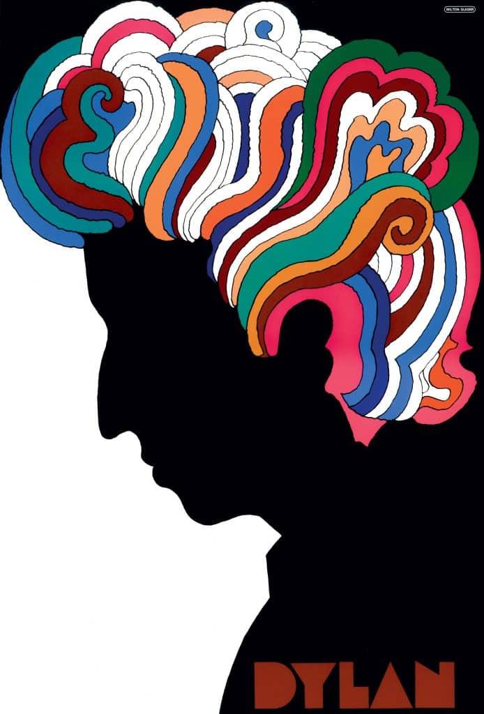 Milton Glaser's 1966 poster of the singer Bob Dylan