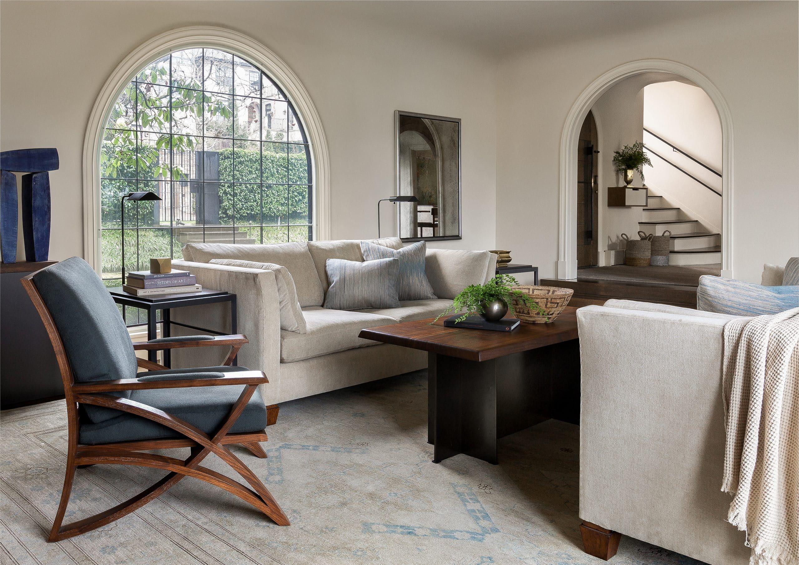 Seattle Interior Designer Charlie Hellstern Washington Park house living room