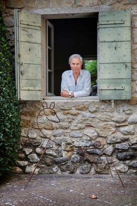 François Catroux at his country house in Provence