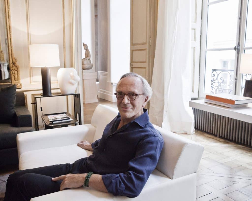 Christian Liaigre in his Paris apartment