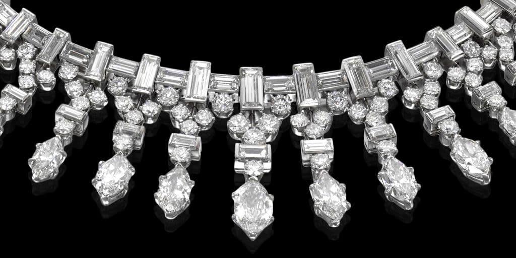 A 1948 Van Cleef & Arpels fringe necklace offered by Lee Siegelson