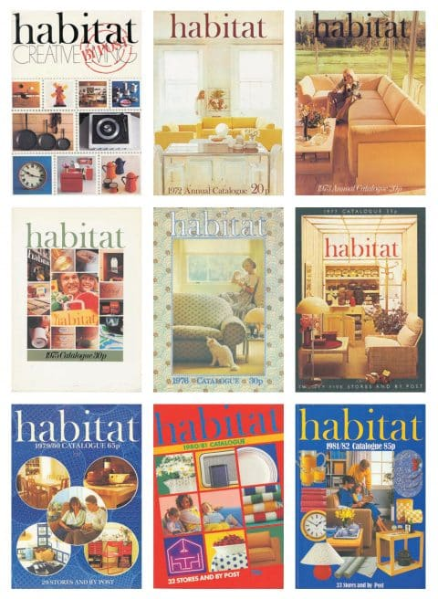 Catalogs from Habitat, the store Terence Conran founded in 1964