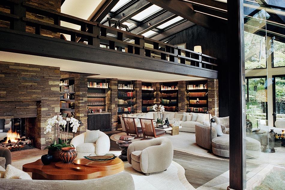 The Catroux-designed Los Angeles home of fashion designer Diane von Furstenberg and media mogul Barry Diller