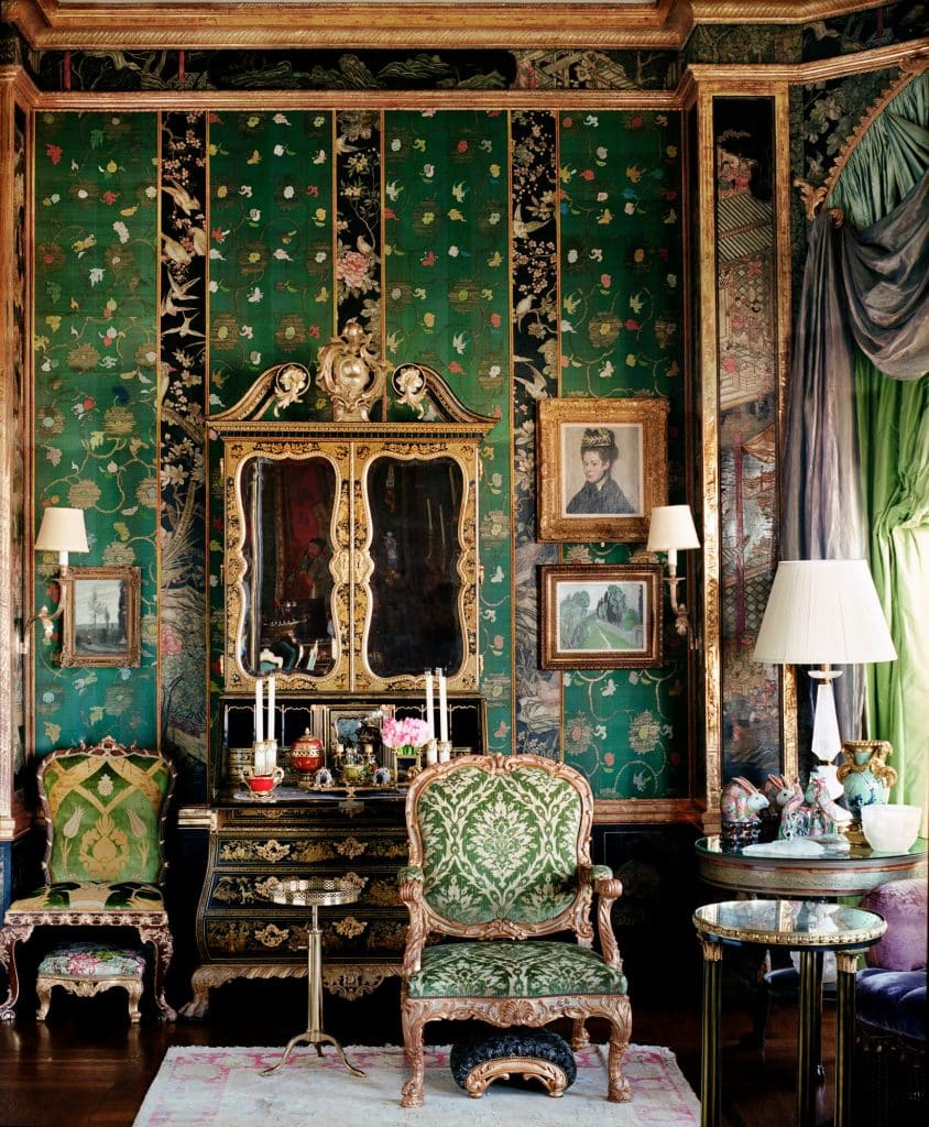Ann Getty's San Francisco living room, featured on the cover of her book Ann Getty: Interior Style