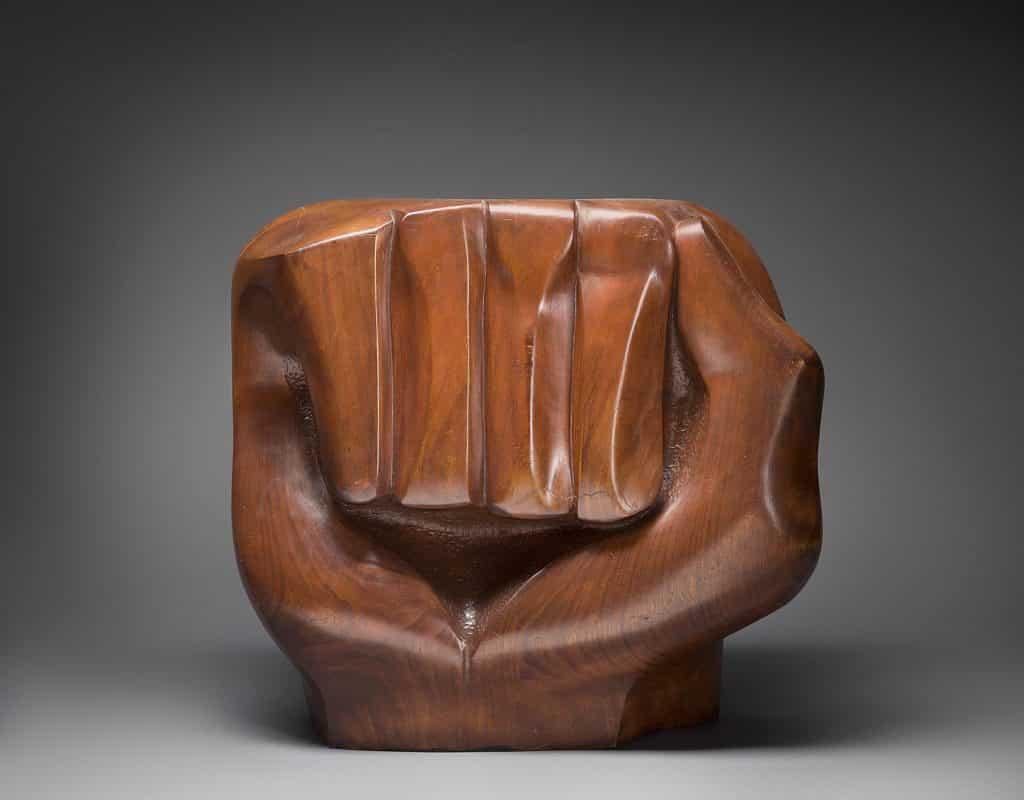 Black Unity, 1968, by Elizabeth Catlett