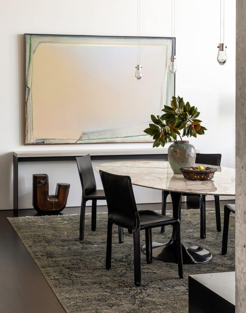 Seattle Interior Designer Charlie Hellstern lake house dining room