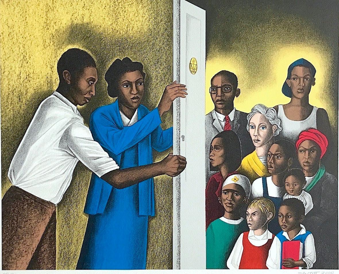 The Door of Justice, 2000, by Elizabeth Catlett