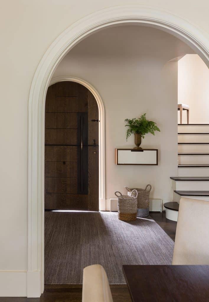 Seattle Interior Designer Charlie Hellstern Washington Park house dining room entry stairs