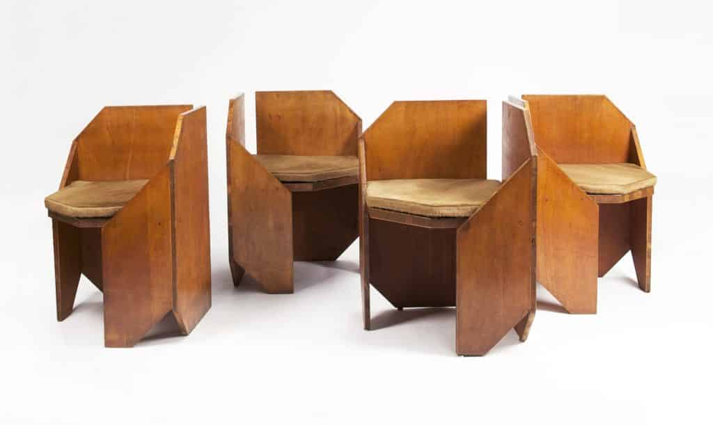 A set of chairs by Hervé Baley from Magen H Gallery