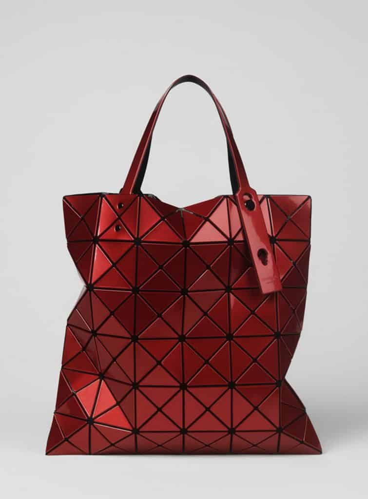 "The Issey Miyake Lucent Bao Bao tote in the exhibition ""Bags: Inside Out,"" at London's Victoria and Albert Museum"