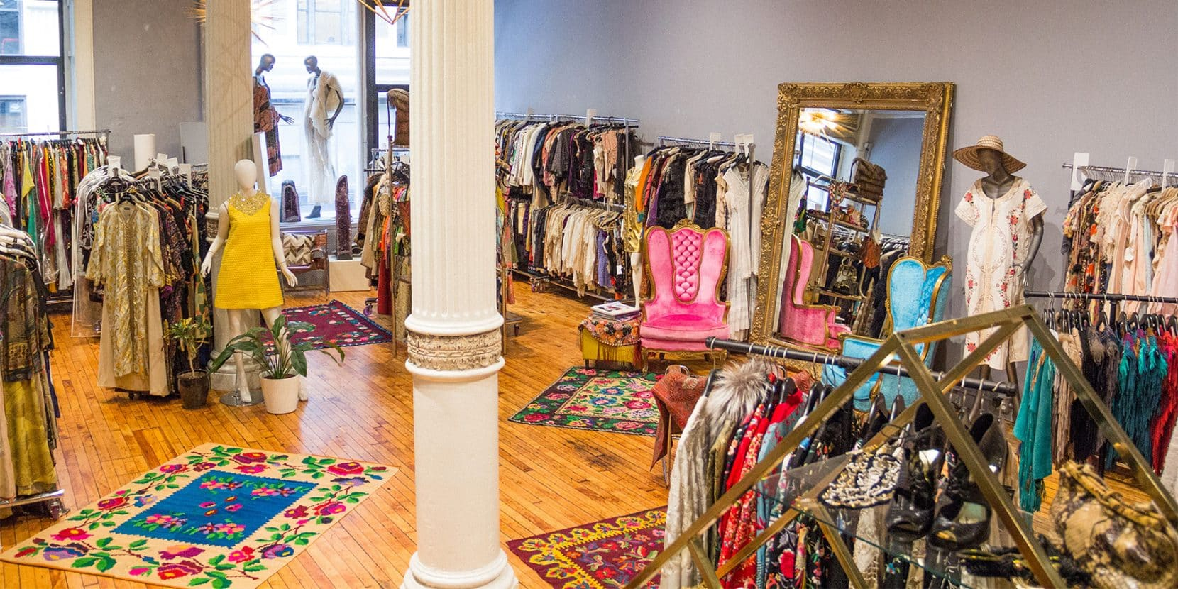 Morphew's colorful New York showroom, nestled in Manhattan's Garment District