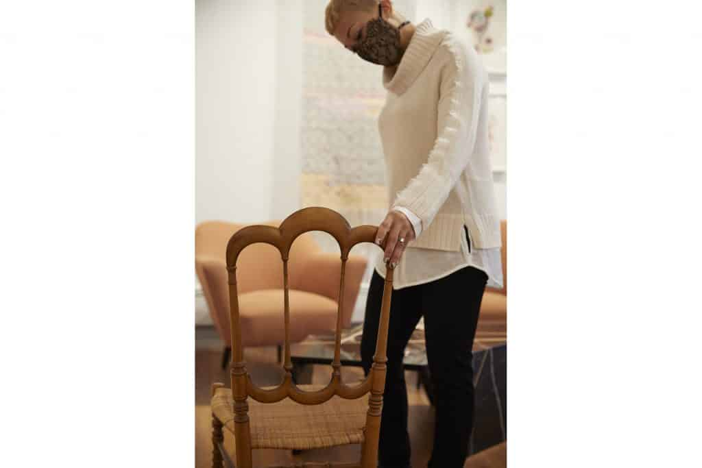 Interior designer Paris Grant at The Gilded Owl Hudson New York shop story gallery dealer