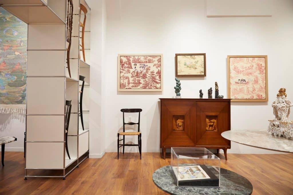 The Gilded Owl Hudson New York shop story gallery dealer Richard Saja paintings Fratelli Levaggi chair