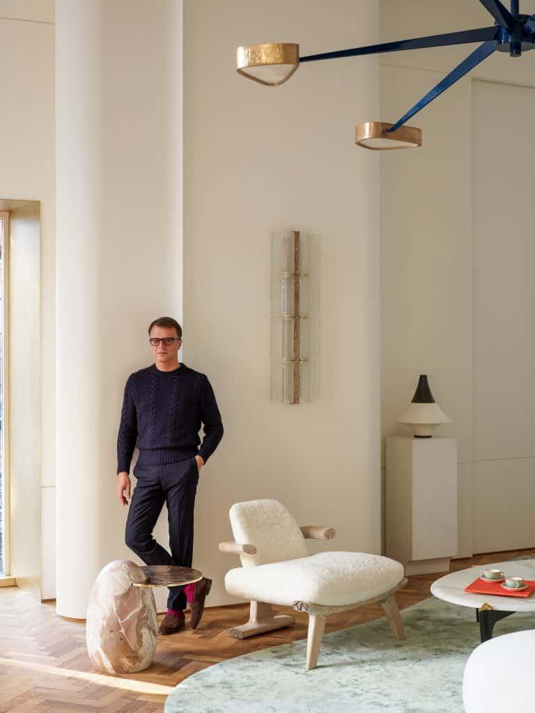 Achille Salvagni in his London showroom