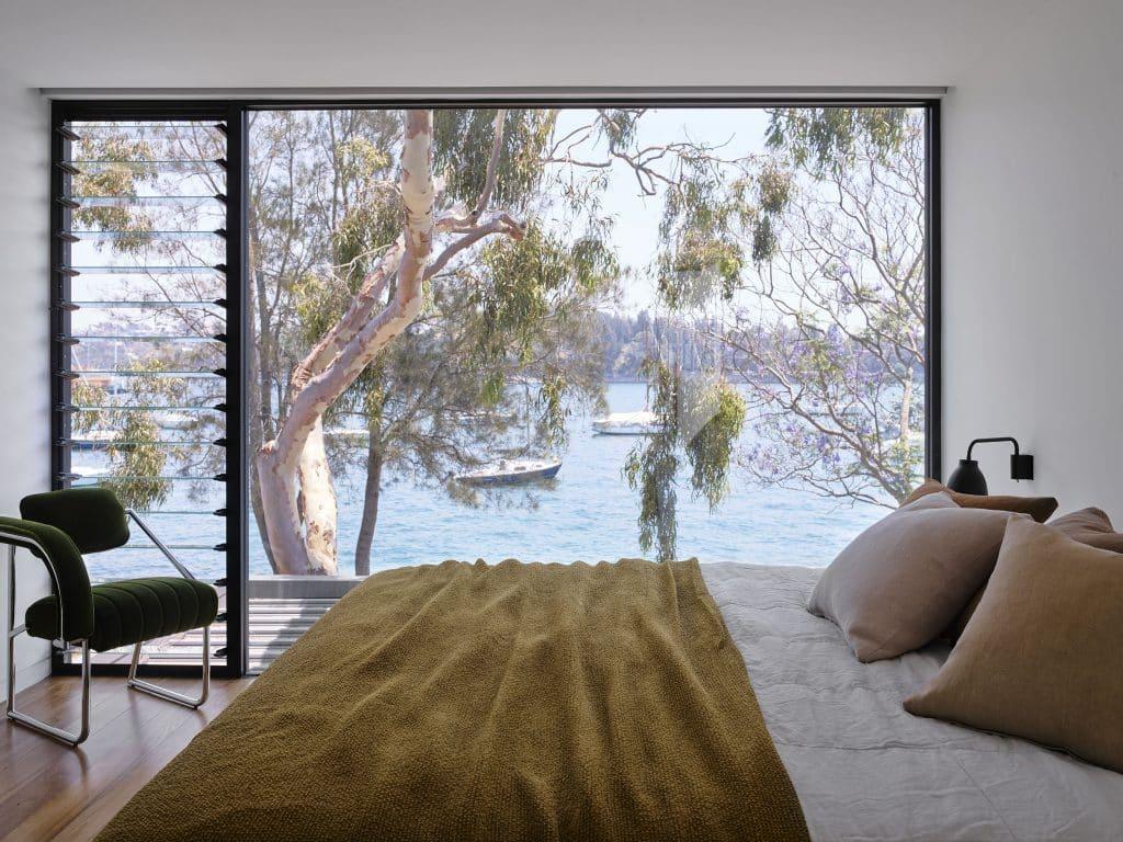 Sarah-Jane Pyke Juliette Arent Arent&Pyke Australian interior designers Collector House Sydney Harbor bedroom