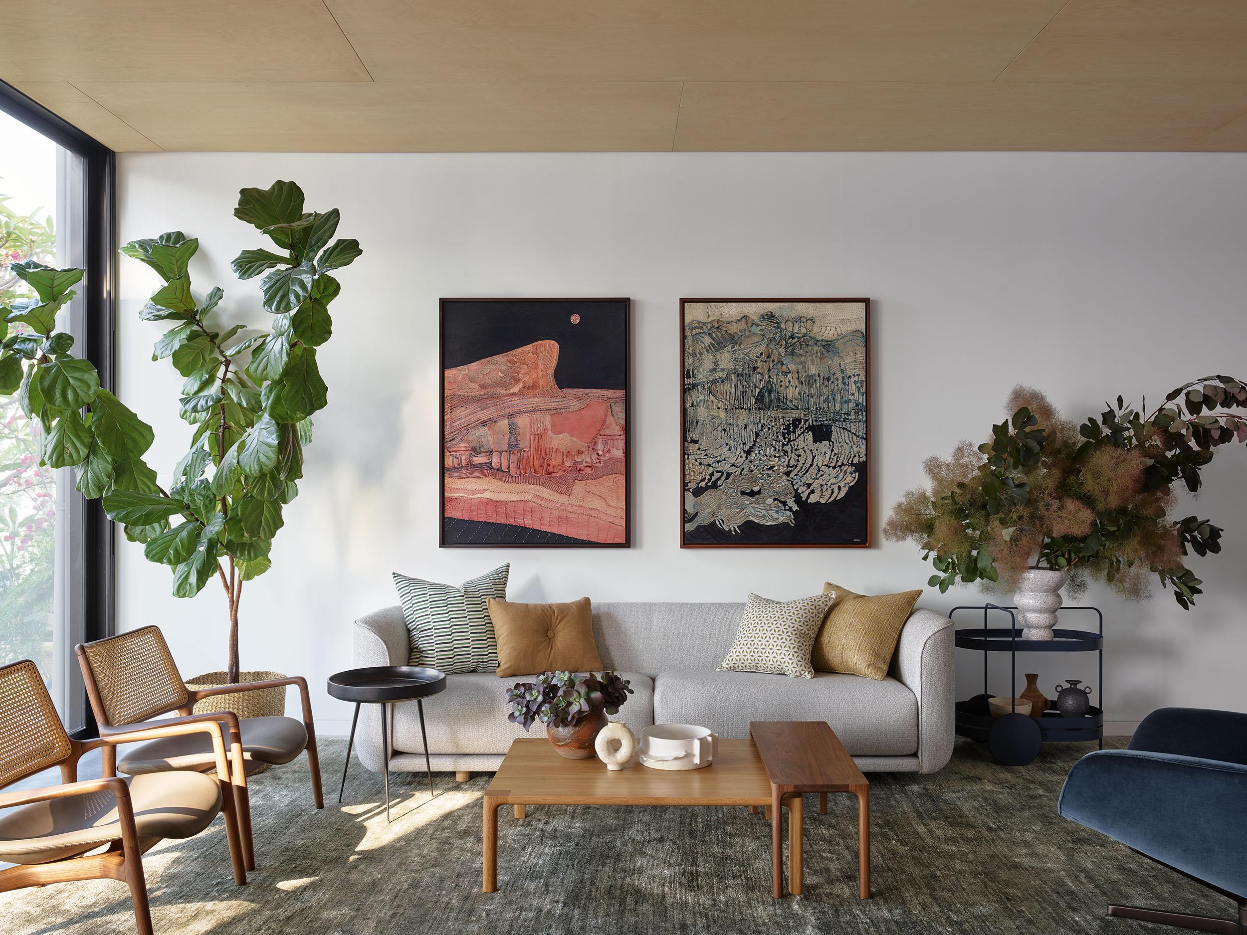Sarah-Jane Pyke Juliette Arent Arent&Pyke Australian interior designers Collector House Sydney Harbor living room
