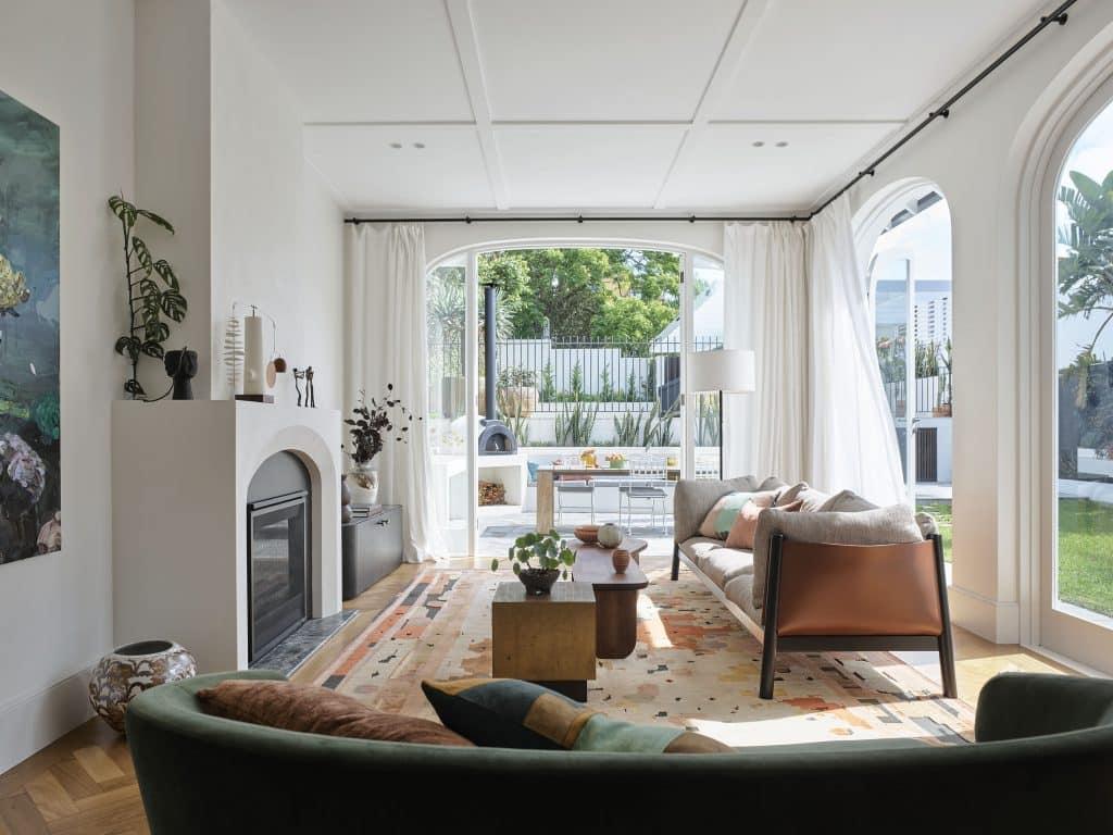 Sarah-Jane Pyke Juliette Arent Arent&Pyke Australian interior designers living room house Queens Park Sydney